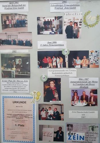 April 2001<br />Stand der Belegschaft.<br />10-jähriges Firmenjubiläum.<br />Zertifikate.